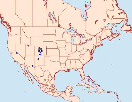 Distribution Data for Sympistis arizonensis