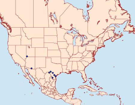 Distribution Data for Sympistis sectiloides