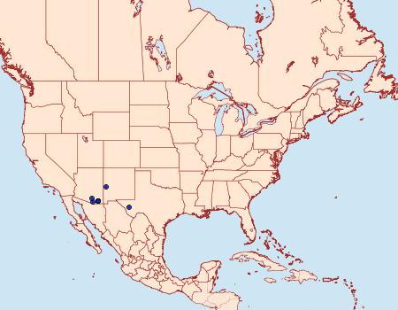 Distribution Data for Carphoides inconspicuaria