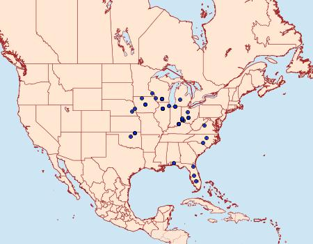 Distribution Data for Phyllonorycter celtifoliella