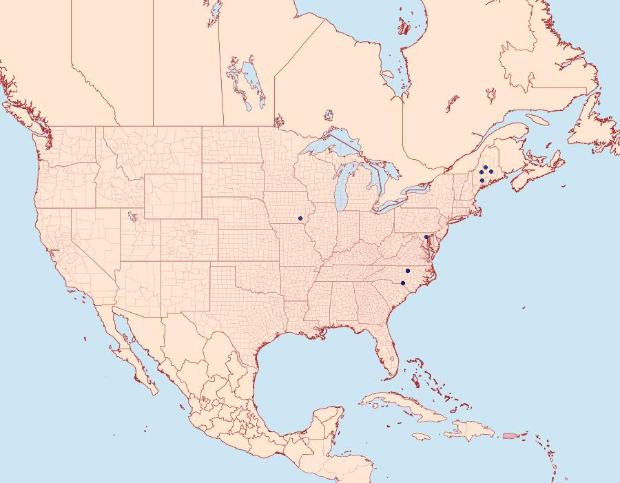 Distribution Data for Stigmella fuscotibiella